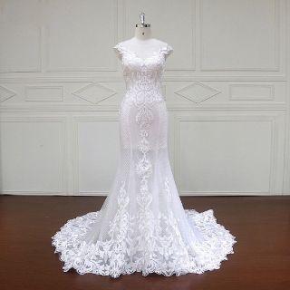 Edwina's Mermaid Lace Wedding Gown