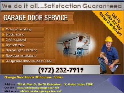 Top Most Rated Garage Door Opener Repair and Installation Richardson, TX – Just $25.95