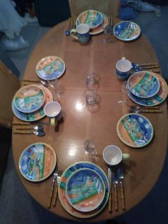 Complete place setting for 4 PLUS