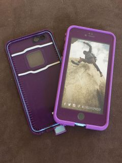NEW!! LIFEPROOF Waterproof Purple & Lavender iPhone 6/6S Cell Phone Case (I have 2 of these)