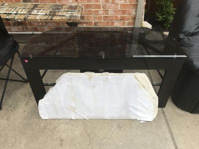 TV Stand Glass & Wood
