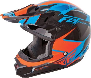 Sell FLY KINETIC IMPULSE HELMET BLUE/BLACK/ORANGE motorcycle in Sauk Centre, Minnesota, United States, for US $98.95