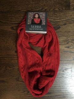 New red infinity scarf