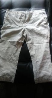 womens off white colored pants