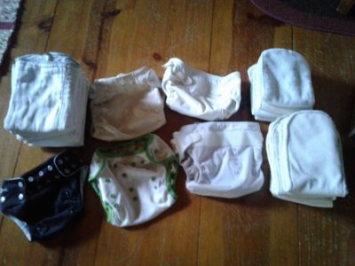 Prefold diapers and covers