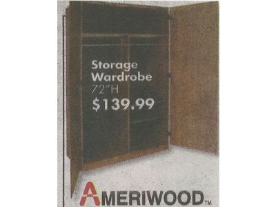 "ARMOIRE / WARDROBE, (2) FREESTANDING, 72""H, W/DOUBLE ..."