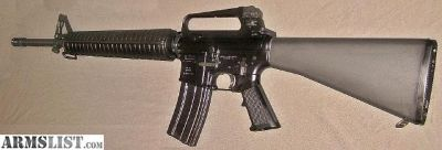 """For Trade: 20"""" AR15A2 rifle with fixed carry handle"""