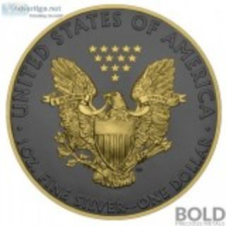 Silver oz American Eagle Golden Ring