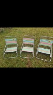 3 beach chairs