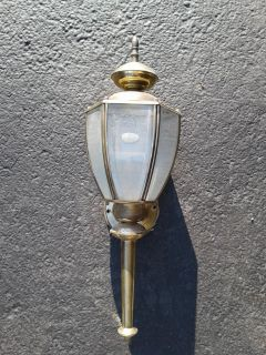 Brass Outdoor Light Fixtures (6)