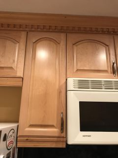 KITCHEN CABINETS SET OF 3-NOW TAKEN DOWN AND READY 2 GO