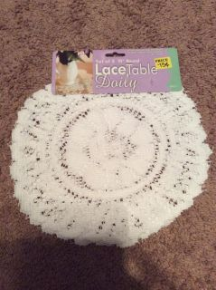 """Lace table doily - set of 3 10 """" round"""