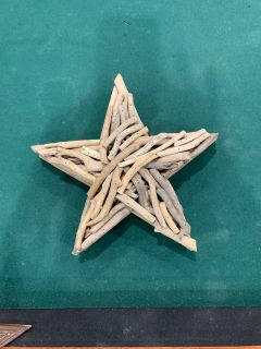 Star made out of wood twigs