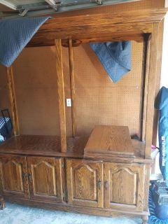 Large solid wood shelving/bookcase storage