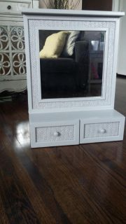 Wall mirror with draws