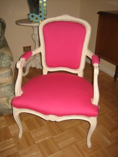 2 shabby chic PINK vintage arm chairs
