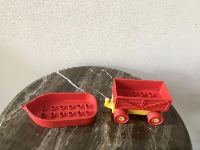 LEGO Red Boat and Wagon