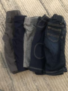 5 pairs of 6 months boys pants