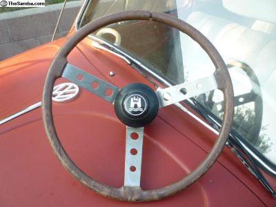 VOA wood simulated steering wheel