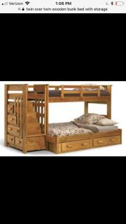 Bunk Bed- Twin over Twin w/ Storage