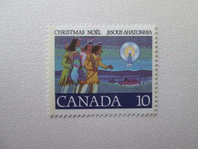 741 Canadian Mint Christmas Postage Stamp Noel Hunters following star