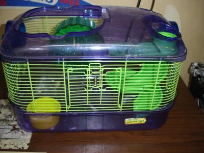 Critter Trail hamster cage with slide & wheel (no top)