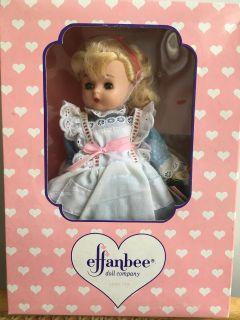 1994 Effanbee Doll Story Book Series Alice In Wonderland Unused