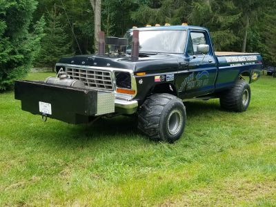 1979 Ford modified 4x4 truck and trailer.