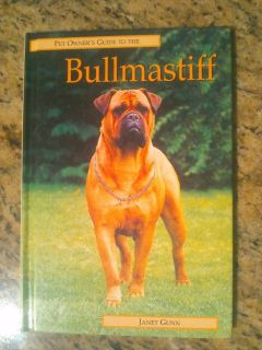 Pet owners guide to the bullmastiff.slightly used $7