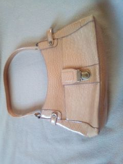Liz Claiborne tan alligator purse