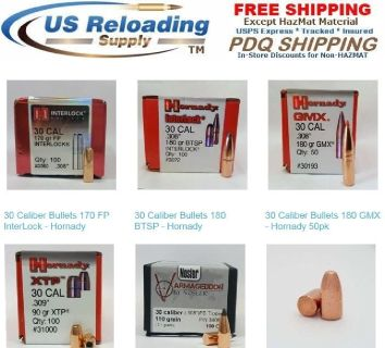 308 Bullets for Reloading Supplies with Free Shipping