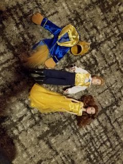 Beauty and the beast dolls.