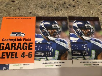 2 Suite tickets Seahawks vs Cowboys