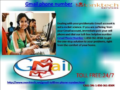 Don t Fear! Gmail Phone Number is Here 1-850-361-8504