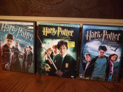 6 HARRY POTTER MOVIES SOME WITH 2 DISC
