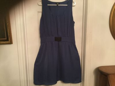 Gorgeous soft material like silk dress.with soft linings.size L.super condition.from Jacob.zipper on the side.