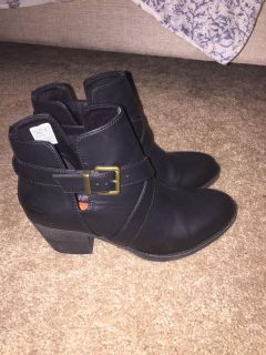 Black booties, brand new! Size 7. Pick up in Troutman.