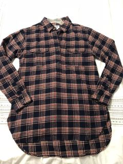 Flannel tunic w/ four buttoned front