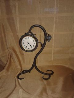 Wrought Iron Designer Table clock.