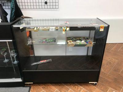 Locking glass cabinets