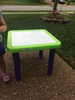 Dry erase crayons table