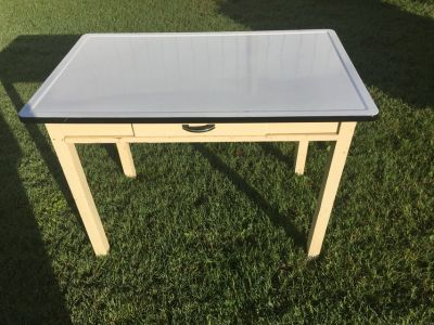 Antique Metal Kitchen/Work Table