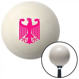 Sell Pink Heraldic Eagle Ivory Shift Knob with 16mm x 1.5 Insert gasser 18 degree motorcycle in Portland, Oregon, United States, for US $29.97