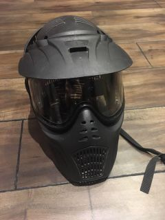 Spider full head protection paintball mask