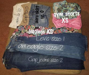 Junior women's clothes xs and small