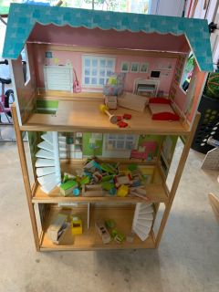 Very well loved doll house.