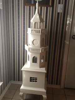 Footed Decorative Wooden Tower