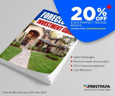 Get 20% Off on 8.5*11 Perfect Bound Books