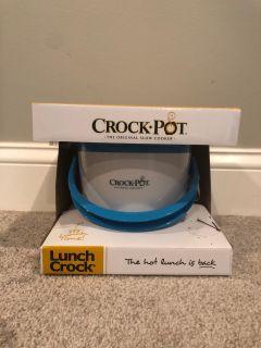 Blue/White Crock-Pot Lunch Crock