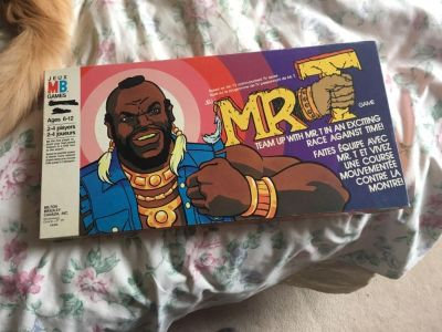 Vintage 1980 s Mr. T board game - good condition, box has some marks